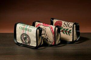 Messenger Bag aus Kaffeesack verschiedene Motive - Coffee-Up!