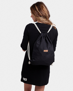 Rucksack Turnbeutel schwarz/schwarz - Degree Clothing