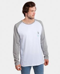 Longshirt Flamolo Langarmshirt weiß/grau meliert - Degree Clothing