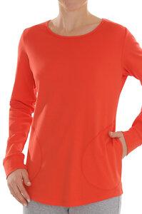 Fairtrade Shirt langarm, blutorange - comazo|earth