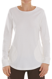 Fairtrade Shirt langarm, offwhite - comazo|earth