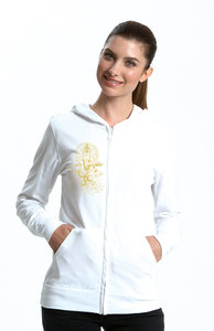 Bio-Jersey-Zip-Hoodie Unisex 'Ganesha'  - Peaces.bio - Neutral® - handbedruckt