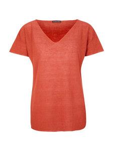 Short Sleeves Sweater Rust - Les Racines Du Ciel