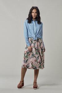 ANTALIA Tropisch Rayon Skirt - Komodo