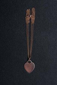 Einzelstück: Doppelkette mit Herzanhänger Roségold - Vintage  - MishMish by WearPositive