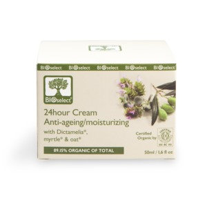 Feuchtigkeitsspendende 24-Stunden Anti-Aging-Creme 50ml - BIOselect