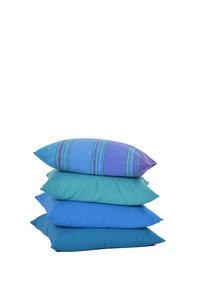 Kissen aus Bio-Baumwolle Blautöne - HängemattenGlück