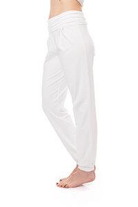 Yogahose im Sarouel Stil weiss - bill, bill & bill
