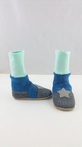 Gr.22/23 Wollwalkschuhe,mit Ledersohle, Schuhe aus Wolle - Süßstoff
