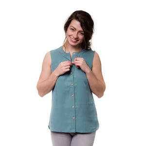 Pacific Bluse Damen Ocean Blau - bleed