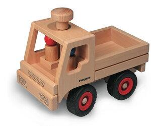 Unimog 3 tlg. wunderschönes Holzpielzeug aus natürlichem Buchenholz mit 2 Püppchen Zubehör extra zubestellen - Fagus® Holzspielwaren