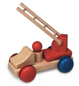 Fagus Minis: Feuerwehr wunderschönes Holzpielzeug aus natürlichem Buchenholz ab 1 Jahr - Fagus® Holzspielwaren