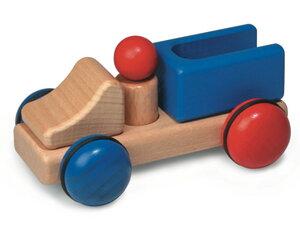 Fagus Minis LKW wunderschönes Holzpielzeug aus natürlichem Buchenholz ab 1 Jahr - Fagus® Holzspielwaren