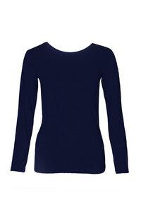 Basic Longshirt Slim - navy - LUXAA