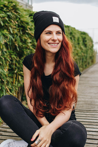 Paperboat Beanie Biobaumwolle / Made in EU black - ilovemixtapes