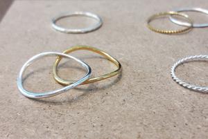 Asymmetrischer Ring aus 925er Sterling Silber - Gold doubliert - LUXAA