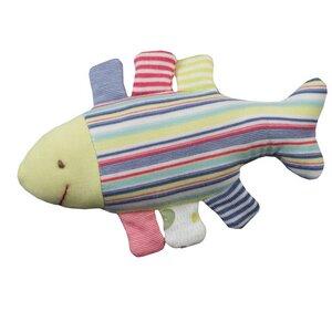 Stofftier Fisch bunt/geringelt 16cm Bio Baumwolle - People Wear Organic