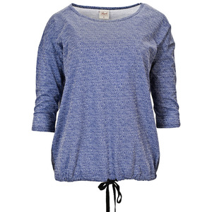 3/4-Arm Shirt blau gemustert - People Wear Organic