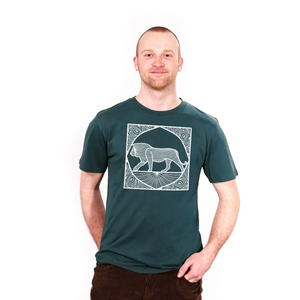 Ornate Lion - Männershirt aus Biobaumwolle - Coromandel