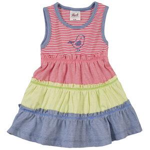 Mädchen Sommer-Kleid koralle geringelt Bio Baumwolle - People Wear Organic