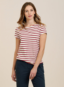 Sailor T-Shirt Breton Ecru Rudder - Seasalt Cornwall