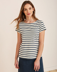 Sailor T-Shirt Breton Ecru Night - Seasalt Cornwall