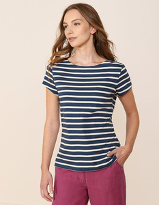 Sailor T-Shirt Breton Night Ecru - Seasalt Cornwall