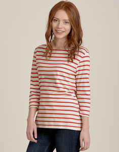 Sailor Top Breton Ecru Carnelian - Seasalt Cornwall