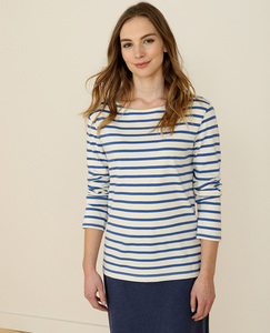 Sailor Shirt Breton Ecru Aquatic - Seasalt Cornwall