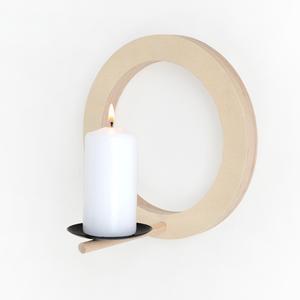 Kerzenhalter für die Wand aus Holz  - renna deluxe