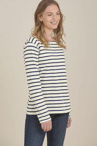 Sailor Streifenshirt Breton Ecru Night - Seasalt Cornwall
