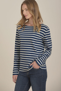 Sailor Streifenshirt Breton Night Ecru - Seasalt Cornwall