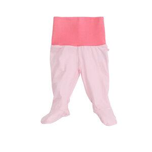 Baby-Hose mit Fuß und Bund, rosa, 100% Biobaumwolle - luftagoon