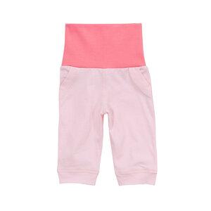 Baby-Leggin mit umschlagbarem Bund, rosa, 100% Biobaumwolle - luftagoon