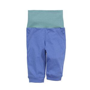 Baby-Hose mit umschlagbarem Bund, blau/aqua, 100% Biobaumwolle - luftagoon