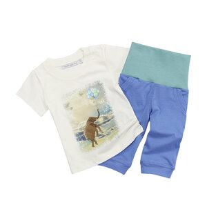 Set blaue Baby-Hose und T-Shirt 'Ballons for Elefants' - luftagoon