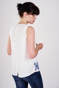Embroidered Sleeveless Shirt  - bibico
