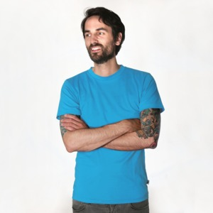 Fairtrademerch Men's Organic T-Shirt (bright blue) - Fairtrademerch