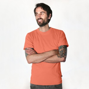 Fairtrademerch Men's Organic T-Shirt (coral) - Fairtrademerch