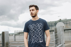 Ahoi 3.0 Herren T-Shirt Organic & Fair Wear _dark blue melange - ilovemixtapes