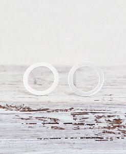 "pikfine 925er Silber Ohrstecker ""Circle"" - pikfine"