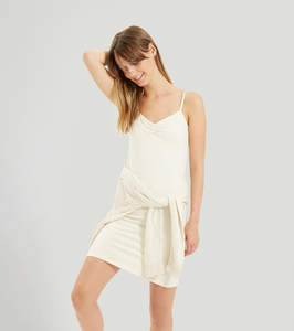 Camisole Slip Dress - Unbleached - People Tree