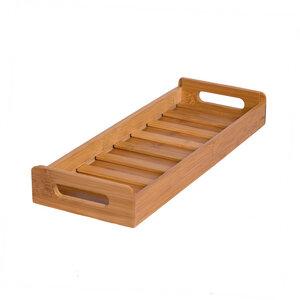 RELAXFAIR Holz Gewürzbox FSC-Bambus Küche Schublade 8 Gläser - RELAXFAIR