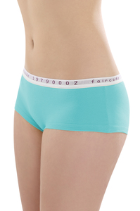 Fairtrade Hot Pants low cut, lagune - comazo|earth
