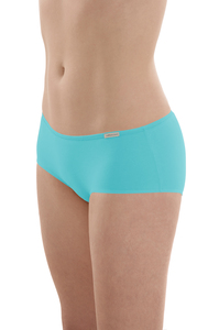 Fairtrade Panty in lagune und apfelrot - comazo|earth