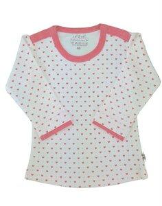 Mädchen Langarm Shirt weiß mit Herzen Bio Baumwolle - EBi & EBi