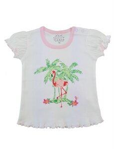 Mädchen T-Shirt weiß rosa Bio Baumwolle - EBi & EBi