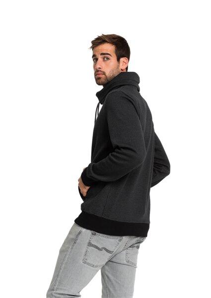 Sweatshirt Tube Collar Grau aus Bio Baumwolle, vegan & fair