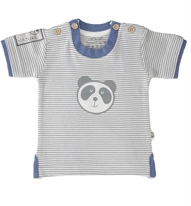 Baby T-Shirt natur geringelt Bio Baumwolle - EBi & EBi