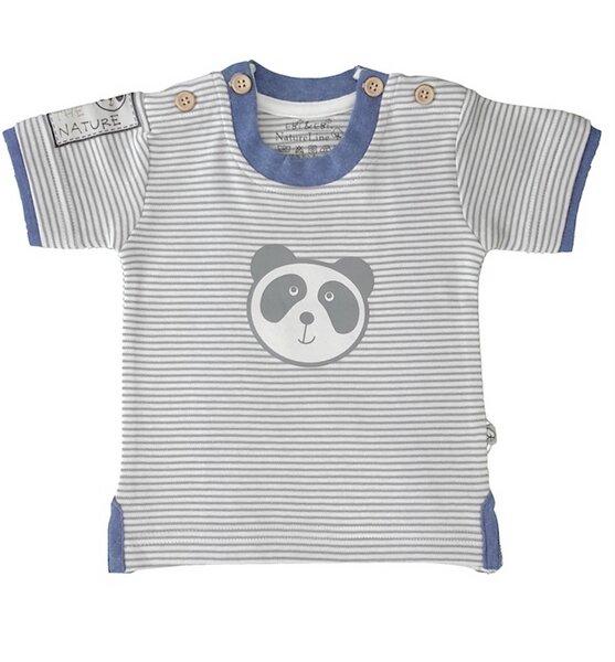 Baby T-shirt Natur Geringelt Bio Baumwolle